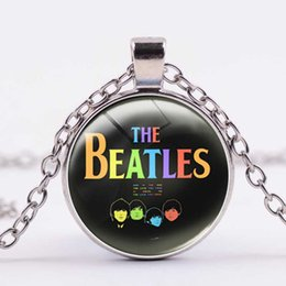 $enCountryForm.capitalKeyWord Australia - Europe and America Hot The Beatles Beatles Time Gemstone Necklace 4 Color Alloy Dome Glass Pendant Necklace Support Customized