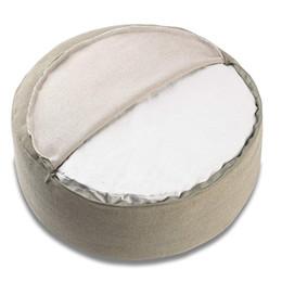 Plain Cotton Cushions Australia - Premium100% Durable Cotton Solid Color Round Yoga Meditation Cushion Cover Plain Yoga Zafu Zen Bolster Pillow Case