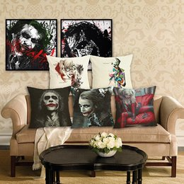 Green Office Chairs NZ - 45cm characters clown Cotton Linen Fabric Throw Pillow 18inch Fashion Hotal Office Bedroom Decorate Sofa Chair Cushion