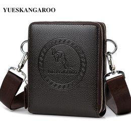 Discount kangaroos brand leather bag - YUES KANGAROO Brand Men Bag Leather Casual High Quality Shoulder Crossbody Bags Classical Business Briefcase Mens Messen