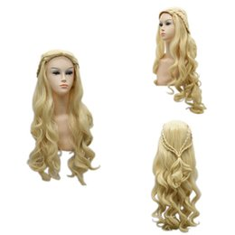 $enCountryForm.capitalKeyWord Australia - Song of Ice and Fire Power game Danielis matte woven silver long curly hair wig female