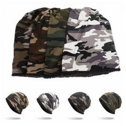 0f0c4ea28d9de Camouflage Crochet Cap 4 Colors Camo Baggy Winter Wool Ski Beanie Skull Caps  Ski Hiking Party Hats 300pcs OOA6178
