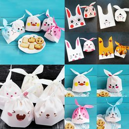 rabbit biscuits UK - Wedding Favors Baking Package Biscuits Cute For Candy Festival Supplies Gift Bags Rabbit Ear Snack 10PCS Lot Cookie Bags