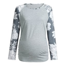 78b1bc29f2268 Maternity Clothes Pregnant Clothes Women Maternity Floral Printed Long  Sleeve Top T-Shirt Maternity Tops ropa embarazada D04