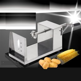 spiral cutters NZ - Manual Potato Spiral Slicer Cutter Vegetable Slicer Twist Potato Spiral Cutter Stainless Potatoes Spiral Machine Kitchen Gadgets