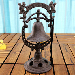 $enCountryForm.capitalKeyWord Canada - Rustic Brown Table Hand Bell Cast Iron Decorative Squirrel Welcome Dinner Bell Standing Restaurant Bar Pub Hotel Party Table Service Supply