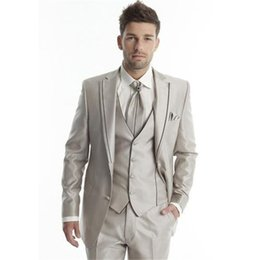 Desgaste dos homens de Alta Qualidade Homens Ternos Padrinhos de Casamento Personalizado Terno de Um Botão de Terno de Casamento de Três Peças Terno (Jaqueta + calça + colete) em Promoção