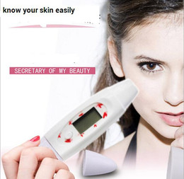 Skin Analyzer Monitor Australia - Portable digital LCD face bia skin detector Monitor Tester facial Digital Skin Moisture Diagnosis Water Analyzer LCD Screen beauty tool