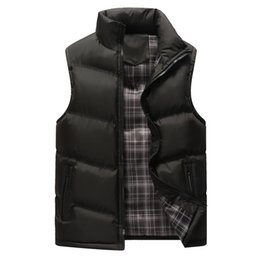 e514c57c204747 New arrival autumn winter warm sleeveless coats vest men fashion casual  solid color slim fit cotton turtleneck plus size 4XL