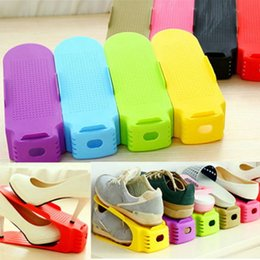 Plastic Shoeboxes NZ - Shoes Organizer Double Layer Plastic Shoe Rack Shoe Drawer Home Storage Convenient Shoebox ZDT1