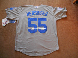 $enCountryForm.capitalKeyWord Australia - Cheap custom Orel Hershisher #55 Button Baseball Jersey Stitched Customize any name number MEN WOMEN YOUTH Jerseys