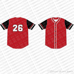 baseball jersey tops Australia - Top Custom Baseball Jerseys Mens Embroidery Logos Jersey Free Shipping Cheap wholesale Any name any number Size M-XXL 84