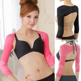 Women Shapewear Long Sleeve Short Sport Top Body Arm Shaper Push Up Body Slimming Shaper LLA63 on Sale