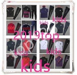 Top Portugal Real Madrid 2018 2019 Paris França crianças ternos de treino crianças jaqueta de futebol futebol fato de desporto