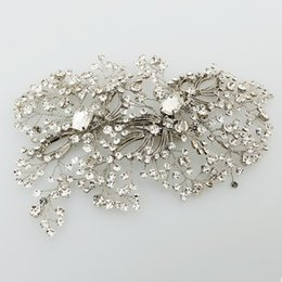 wire clip hair NZ - wholesale Delicate Hand wired Rhinestone Crystal Headpiece For Bride Wedding Bridal Hair Clip Comb Women Prom Hair Jewelry