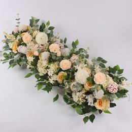 $enCountryForm.capitalKeyWord UK - 50 100cm Custom Wedding Flower Wall Arrangement Supplies Silk Peonies Artificial Flower Row Decor For Wedding Iron Arch Backdrop J190706