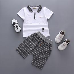 24fdf3accf New Children Boys Clothing Set 2pcs Multifunction Detachable collar TShirt  Short Pants Baby Clothes Summer Kids Clothing Sets