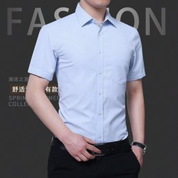 $enCountryForm.capitalKeyWord Australia - Section Business Affairs Shirt Male Short Sleeve Thin Section Self-cultivation Solid Color Half Sleeve Men's Wear Shirt Occupation Dress