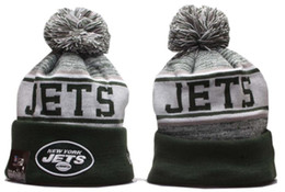skull sports set NZ - Wholesale Top Quality Hip Hop Sport NY Jets Beanies Men Women Baseball Cuffed Knit Hats Cheap Fashion Hip Hop Winter Warm Beanie Skull Caps