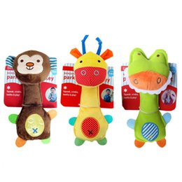 puzzle toys sticks 2019 - Children's toy rattle stick baby toy cartoon animal hand grab stick rattle puzzle hand ring hand rattle plush toy d