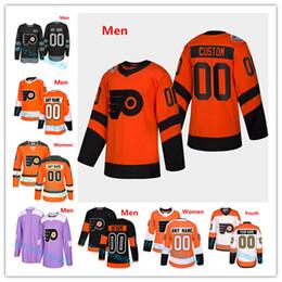 21562bb4ee2 Personalizzato Philadelphia Flyers 2019 Serie Stadium Uomo Donna Bambino  Kid Jersey Qualsiasi numero Nome 9 Ivan Provorov Hartman Gritty Giroux  Voracek