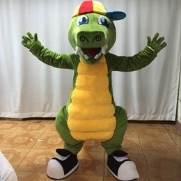 CroCodile Costumes online shopping - 2019 Hot new Adult newest crocodile mascot costume cute crocodile costume for sale
