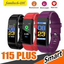 $enCountryForm.capitalKeyWord Australia - Original Color LCD Screen ID115 Plus Smart Bracelet Fitness Tracker Pedometer Watch Band Heart Rate Blood Pressure Monitor Smart Wristband