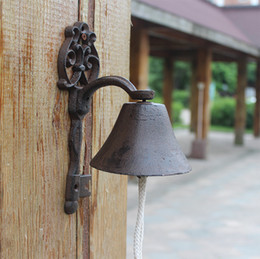 $enCountryForm.capitalKeyWord Australia - Cast Iron Welcome Dinner Bell Old Key Antique Retro Rustic Hanging Decorative Door Bell Garden Porch Patio Gate Country Brown Vintage Retro