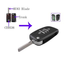 $enCountryForm.capitalKeyWord Australia - 3Buttons Flip Remote Key 433MHZ PCF7961 Chip HU83 For PEUGEOT 207 407 406 307 308 SW 408 107 CE0536 Battery Holder ASK Signal