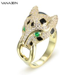 $enCountryForm.capitalKeyWord NZ - Vanaxin Gold silver Color Leopard Rings For Men Fashion Animal Ring Party Punk Jewelry Women Accessories Anel Bijoux Nice Gift C19041501