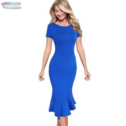 Wholesale office cocktail dresses resale online – Womens Elegant Vintage Summer Pinup Wear To Work Bodycon Dresses Office Business Cocktail Casual Party Fitted Bodycon Mermaid Dress
