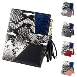 Discount cute cell phone holders - Leather Women Wallets Coin Pocket Hasp Card Holder Women Print Snake Patchwork Cute Fashion Purse Tassel Wallet Coin Car
