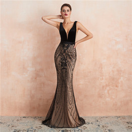 sexy cocktail dresses images Australia - 2019 Luxury black Champagne beaded sexy Mermaid Evening Dresses Wear yousef aljasmi Fashion zipper backless cheap arabic Prom Formal Gowns
