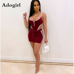 Wholesale sexy bodysuits outfits resale online - Velvet Bodysuits Skirts Suits Sexy Hollow Out Two Piece Set Night Club Night Party Streetwear Bodycon Autumn Outfits