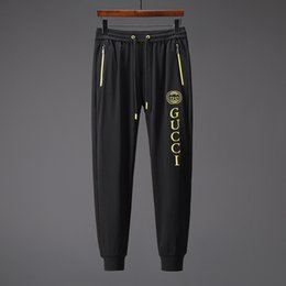 Cotton Flannel Pants Australia - 2019 Spring and Autumn Fashion Hip Hop Running Sleeve Pants &#71ucci Men's Cotton Pants Sports beam trousers men's cotton trousers pant
