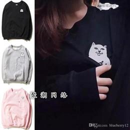 Women Cat Suits Australia - Pop Autumn Pullover Cotton Blend Women Hoodies Sportswear Cat Print Sport Suit Causal Sweatshirts Vs Harajuku Tracksuit