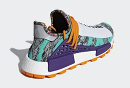 e6af67f2c 2018 New Pharrell Williams x Originals NMD Hu Trial Solar Pack 3MPOW3R M1L3L3  Human Race Men Women Running Shoes Authentic Sneakers With Box