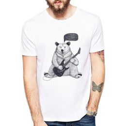 $enCountryForm.capitalKeyWord Australia - New Summer T-shirt Vintage Retro Punk Sketch Bear Mens T-shirt Novelty Design Top Tee Fashionable Bear Let S Rock