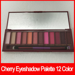 Makeup palette 12 colors online shopping - 2018 Newest Eye Makeup Palette NUDE Cherry Eyeshadow Palette Natural Matte Shimmer Eye shadows palettes color with brush