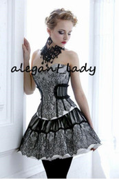 $enCountryForm.capitalKeyWord Australia - Little Black Dress Lace Gothic Prom Corset Dresses Southern Belle Victorian Homecoming Dress A-line Short Mini Hallowood Cocktail Party gown