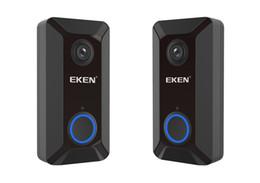 Wholesale Bell Housing NZ - EKEN V6 wifi Doorbell Smart Wireless 720P video camera Cloud storage door bell cam waterproof home security house bell