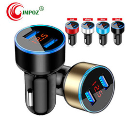 car cigarette socket usb Australia - Car Charger 5V 2.1A LED Display Fast charger Dual Usb Phone Car-Charger for xiaomi For iPhone 12-24V Cigarette Socket Lighter