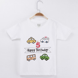pink car set UK - 2019 Cars Shirt 100% Cotton Cartoon Children T Shirts Birthday Clothes For Boys And Girls Tops Baby Clothing Set J190529