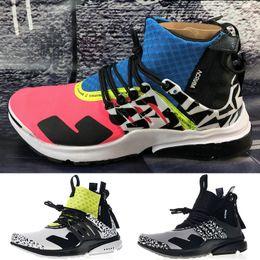 f337ac16072 2019 Acronym X Presto Mid Running Shoes Men Women Dynamic Yellow Cool Grey  Racer Pink Darts Street Designer Shoes Sport Sneakers