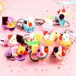 $enCountryForm.capitalKeyWord Australia - MIXED SIMULATED PVC ICECREAM CAKE PENDANT KID GIFT KEYCHAIN KEYRING FUNNY NOVEL KEYFOB KEY ACCESSORY KEY CHAIN KEY RING FOR BAG CAR KEYFOB