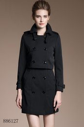 Vintage T Shirt Rayon Australia - New shawl short bucket seam coat jacket black Double Breasted Coat Jackets Trench Coats Evening Wear Dresses Blouses Shirts T-shirts