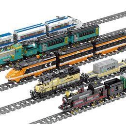 $enCountryForm.capitalKeyWord Australia - Kazi Technic Battery Powered Electric Classic City Train Rail Building Blocks Bricks Gift Toys For Children Boys Girls J190722
