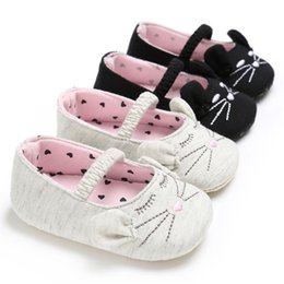 Girl Toddler First Walker Shoes Australia - Summer Baby Girls Shoes Newborn Toddler Infant Kids Baby Girl Cat Pattern Soft Crib Shoes Baby First Walker Shoes M8Y11