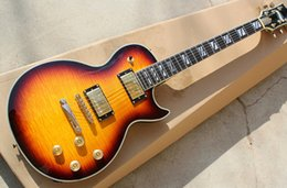 Guitar Bright NZ - Elegant electric guitar,Bright sunset,Mahogany body and Rosewood fretboards,Tobacco and Golden hardwares with Closed knobs,Special inlay.