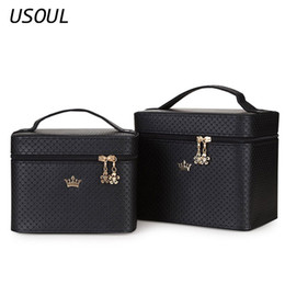 crown cosmetic bag Australia - USOUL Beauty Case Crown Large Capacity Professional Makeup Organizer Cosmetic Bag Portable Brush Storage Case Bolso Mujer SH190918